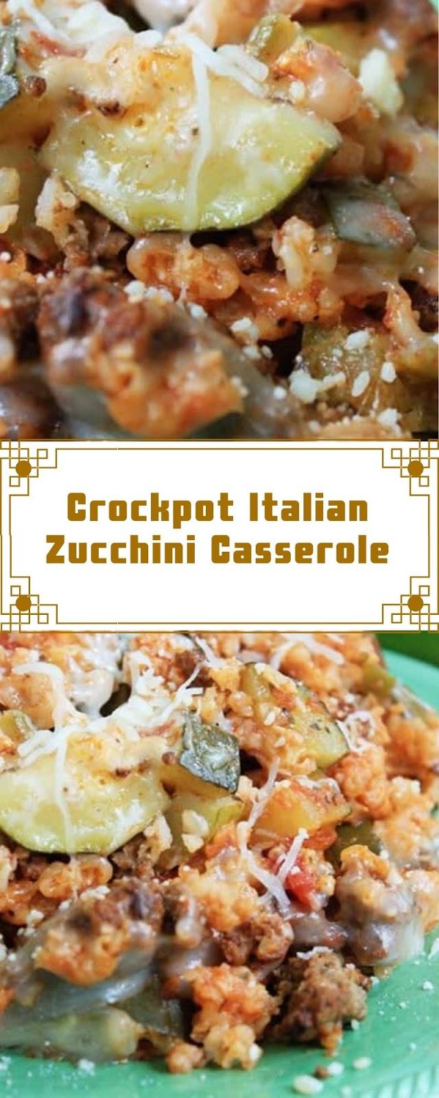 Crockpot Italian Zucchini Casserole