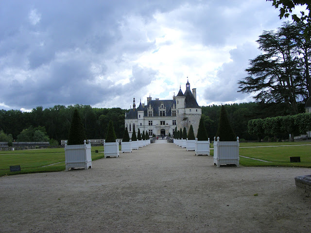 Chateau of Chenonceau.  Indre et Loire, France. Photographed by Susan Walter. Tour the Loire Valley with a classic car and a private guide.