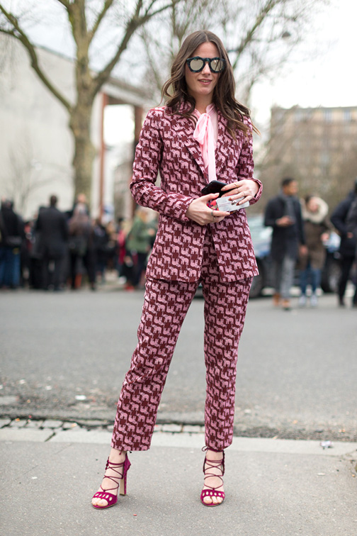 printed blazer suit trends fall 2016