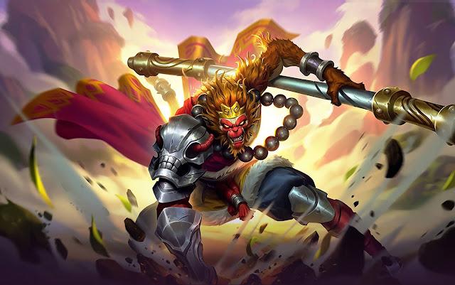 Sun Monkey King Heroes Fighter of Skins Rework Mobile Legends Wallpaper HD for PC