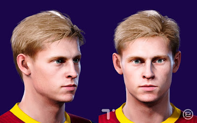 PES 2021 Faces Frenkie de Jong by Tom