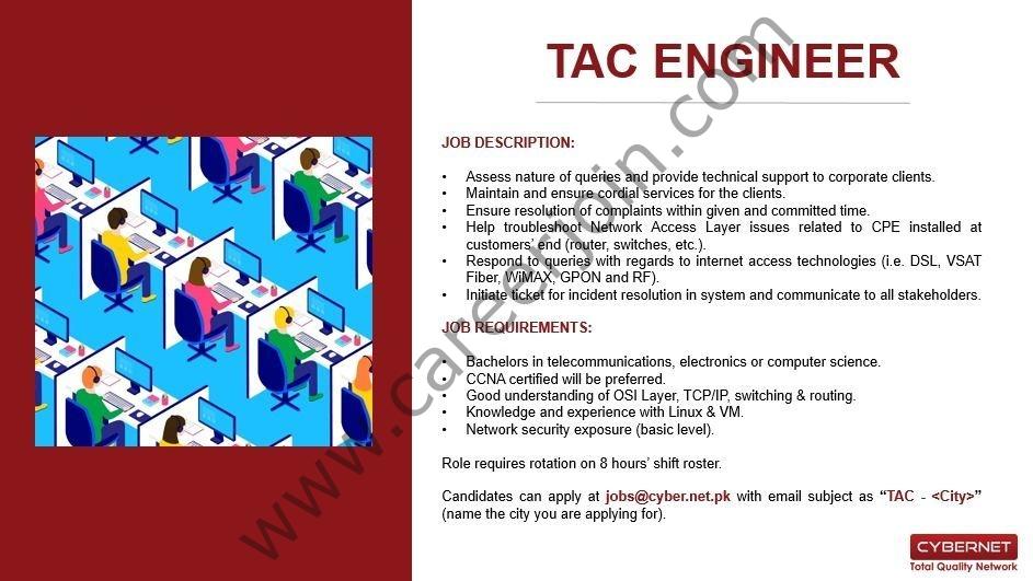 jobs@cyber.net.pk - CyberNet Jobs 2021 in Pakistan