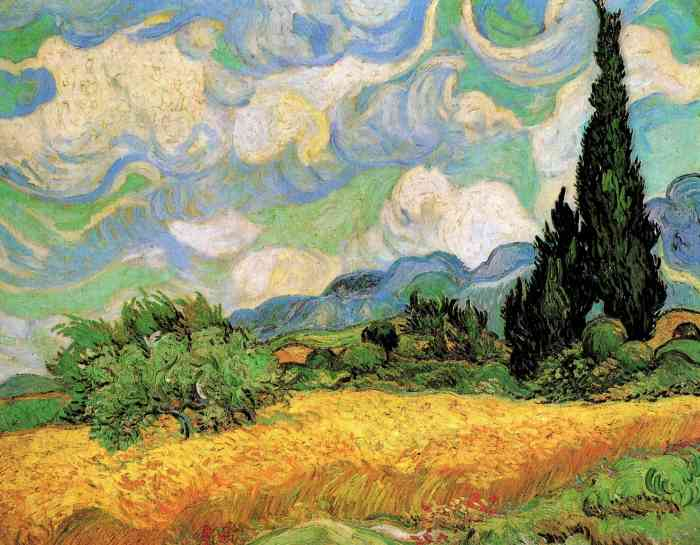 Wheat Field with Cypresses at Saint-Remy