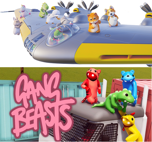 Comparison of Party Animals vs Gang Beasts