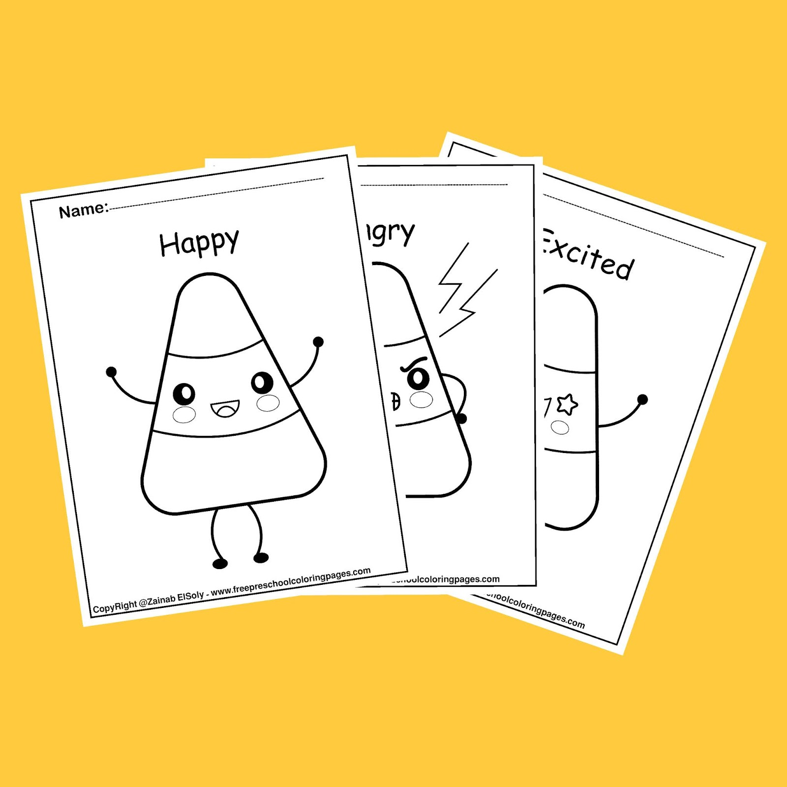 Emotions Coloring Pages - Help Kids With Feelings | Emotional ... | 1600x1600