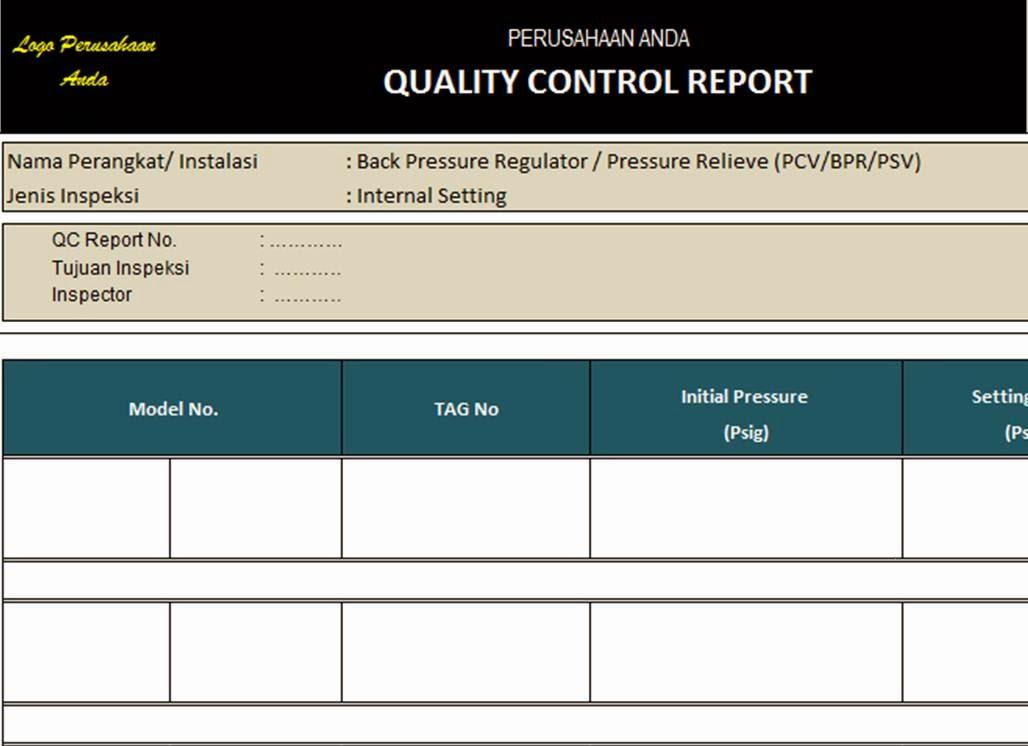Contoh Formulir Quality Control Disclosing The Mind