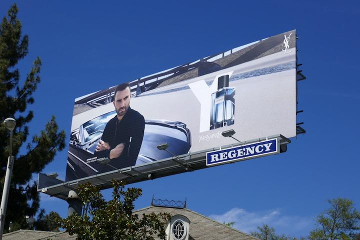 Adam Levine Y YSL fragrance billboard