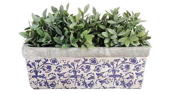 "22"" Ceramic Balcony Planter via #onekingslane"
