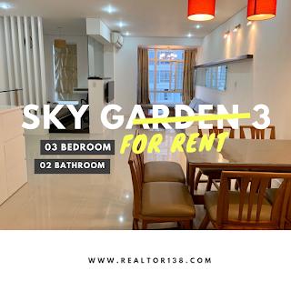 cho thuê căn hộ 3 phòng ngủ chung cư sky garden 3 phú mỹ hưng