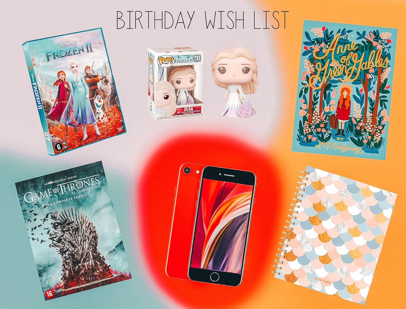 Wish list 2020 anna 21st birthday Anna Twenty Seven
