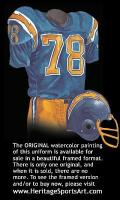 San Diego Chargers 1977 uniform