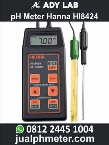 pH Meter Hanna HI8424 | Ady Water Jual pH Meter Portable Digital untuk Industri | Air Limbah