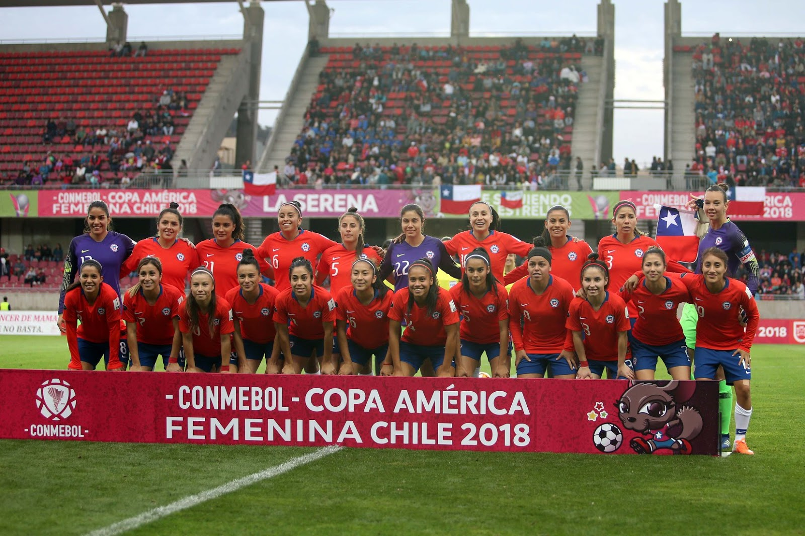 Titulares y suplentes de selección de Chile ante Uruguay, Copa América Femenina 2018, 10 de abril