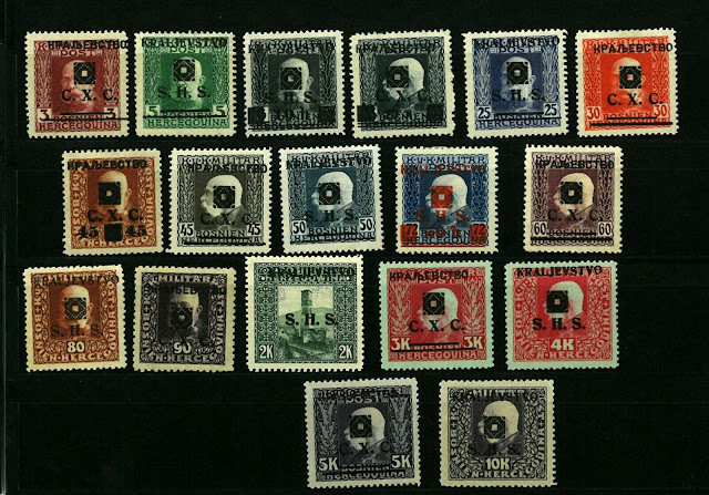 Yugoslavia 1918 SHS Bosnia Portrait Definitives