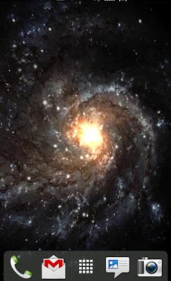 screenshot of Galactic Core live wallpaper