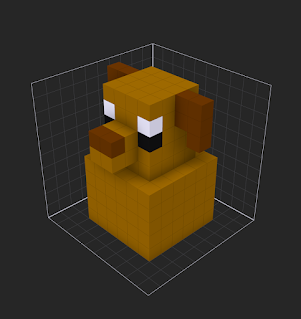 Using the Mirror tools in MagicaVoxel