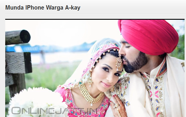 Pollywood Punjab: Munda IPhone Warga A-Kay Song Video