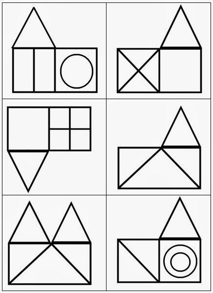 formes geometriques en moyenne section