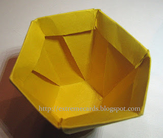 hexagonal acorn box with lid
