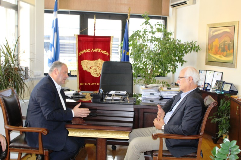 Στο Δημαρχείο της Λάρισας ο Αρχηγός της Ελληνικής Αστυνομίας