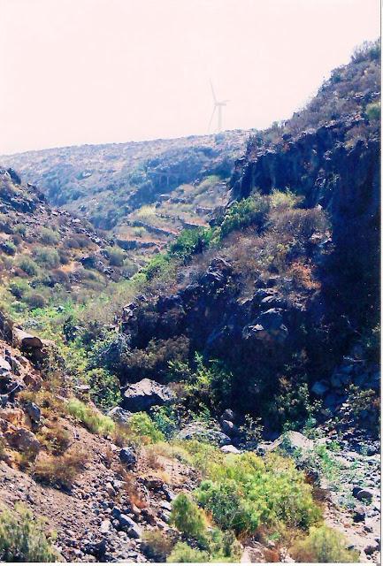 Cuaderno de geografia canaria barrancos del sur de tenerife for Pica lavadero roca