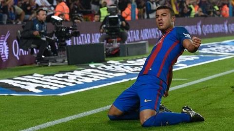 Rafinha trong màu áo của Barca