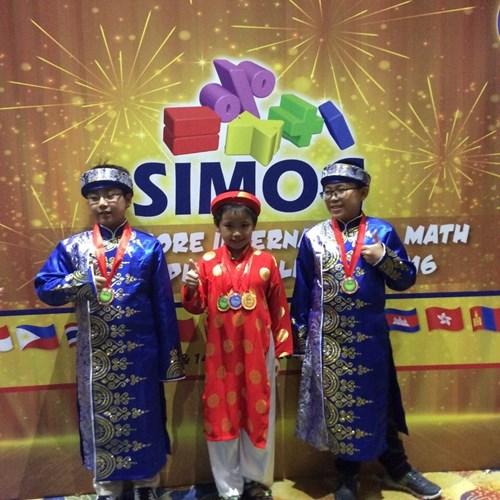 3 học sinh Gia Lai đạt 5 huy chương tại kì thi SIMOC 2016