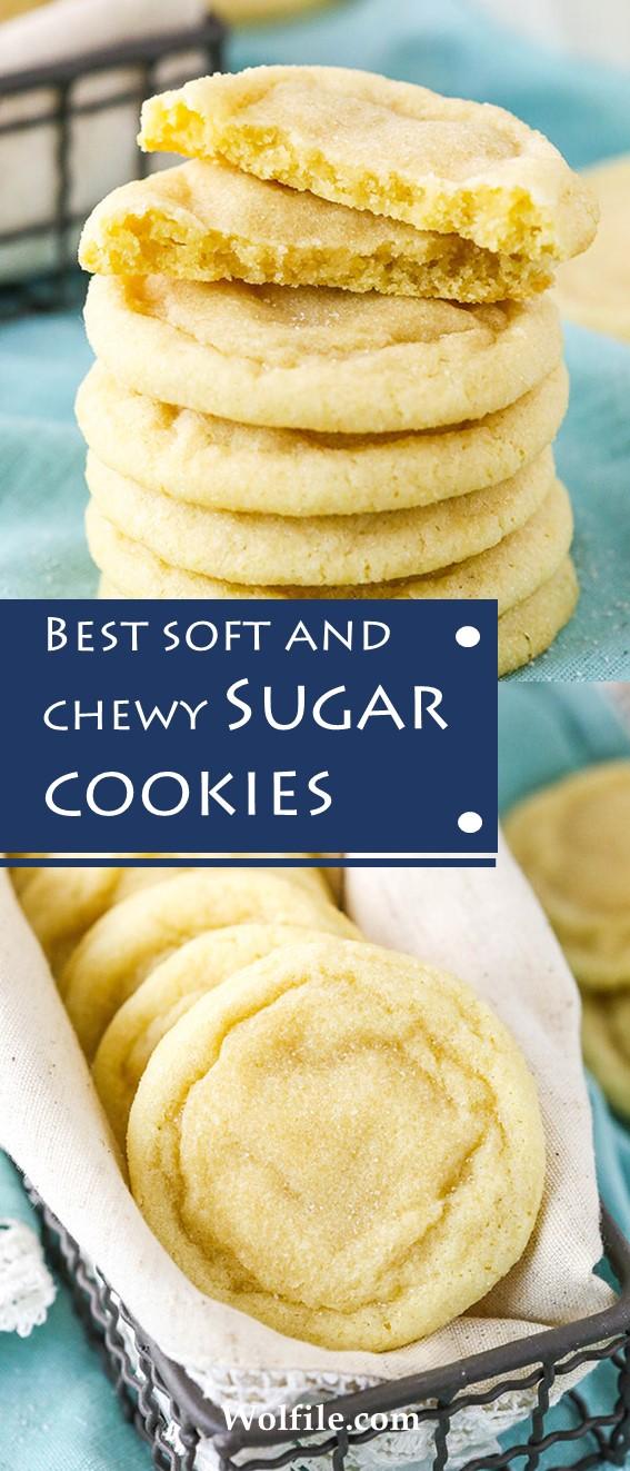 BEST SOFT AND CHEWY SUGAR COOKIES #SugarCookies #Cookies