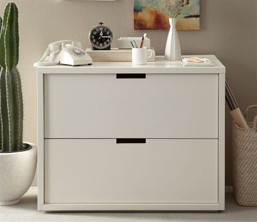 2 drawer white file cabinet