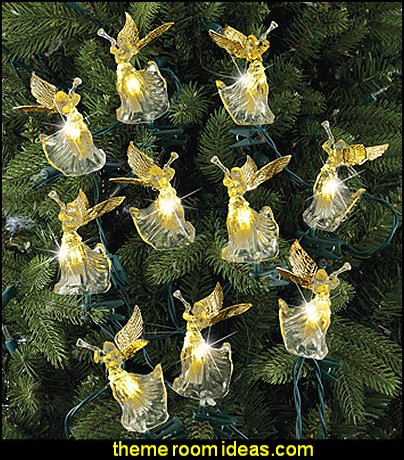 Christmas Angel Faux Crystal Light String