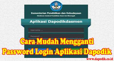 Mengganti Password Login Aplikasi Dapodik