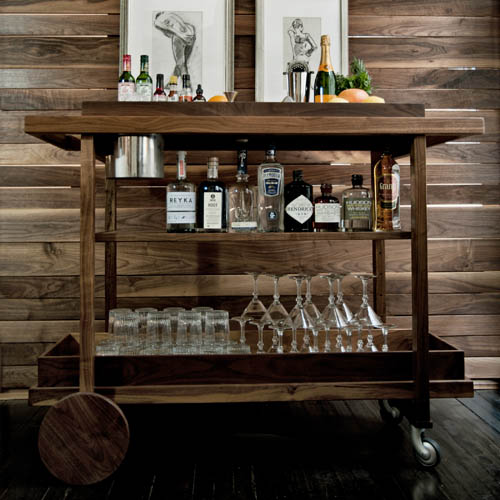 15 Majestic Contemporary Home Bar Designs For Inspiration: For A Song: Bar Cart Inspiration
