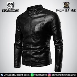 Jual Jaket Kulit Asli Garut Pria Domba Original Brida Leather B55   WA 08813430588