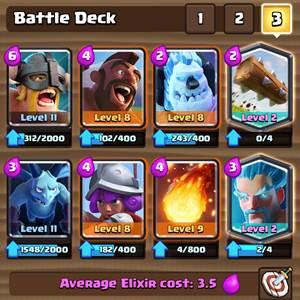 Battle Deck Clash Royale 1