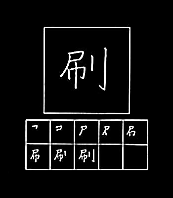 kanji mencetak