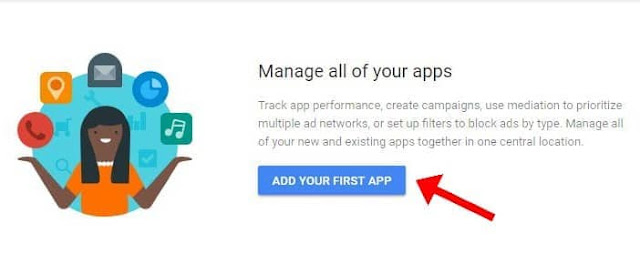 Add Your First App on Admob