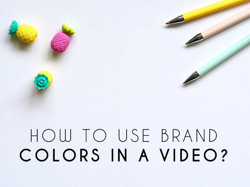 Brand Colors In A Video