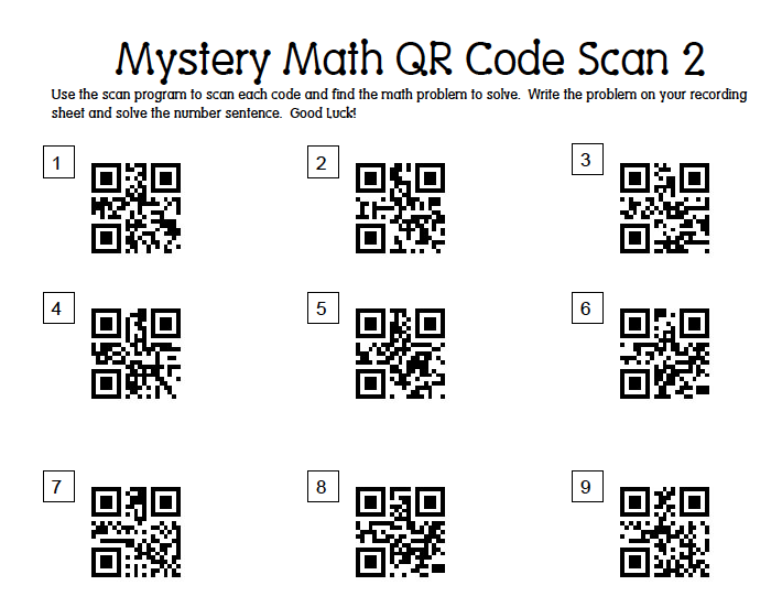 Mrs. Samuelson's Swamp Frogs: Mystery Math QR Code Scan 2