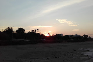 sunrise over Larnaka