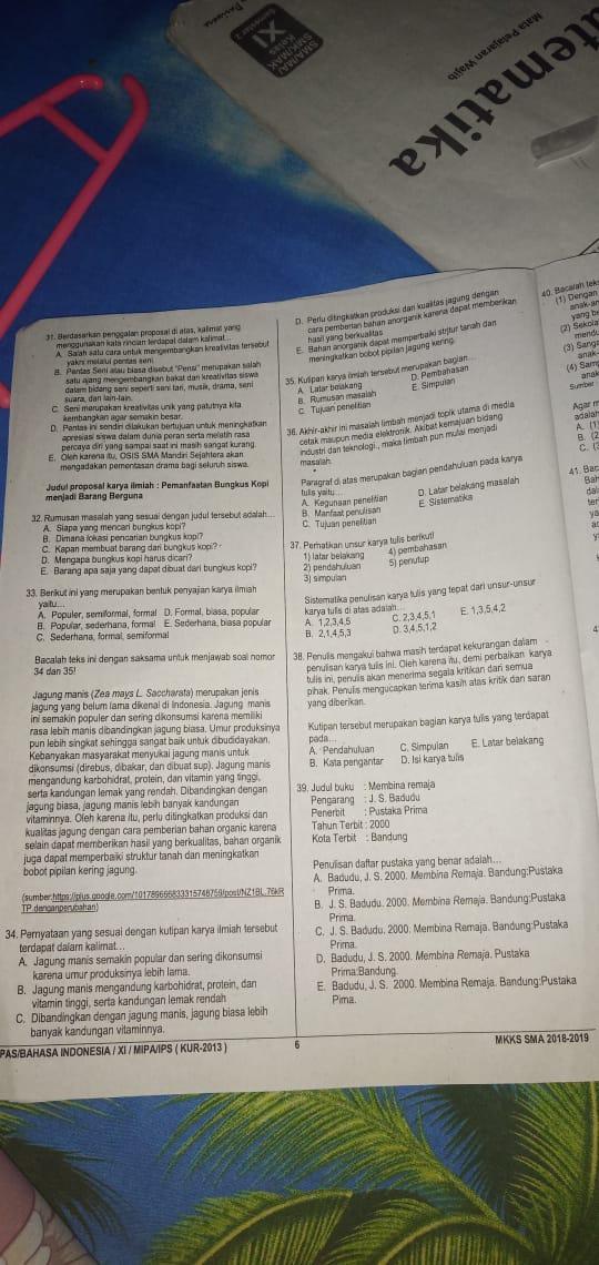 IMG-20190522-WA0007 Jawaban Lks Bahasa Indonesia Intan Pariwara Kelas Semester on