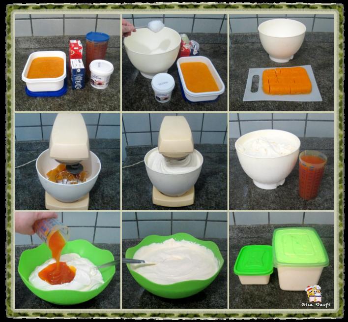 Frozen iogurte e sorvete cremoso de manga 11