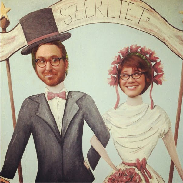 21 Insanely Fun Wedding Ideas - Instead of a photo booth, set up photo stand-ins