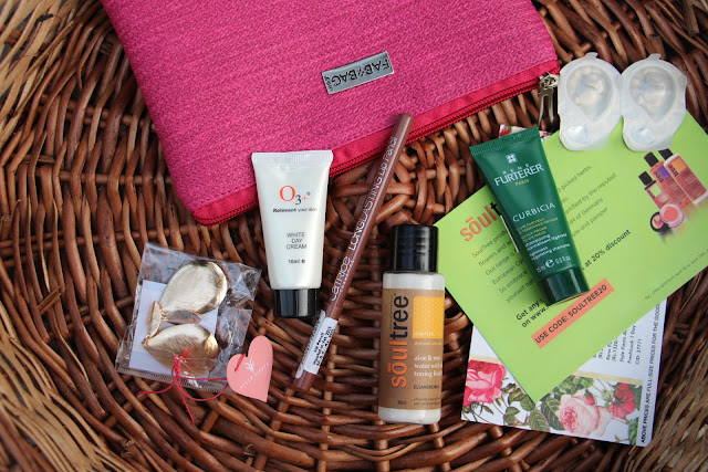 Fab Bag Discount coupon, April 2016 spring fab bag, April Fab Bag Review, Catrice Longlasting Lip Pencil,Soultree Aloe & Rose Water Cleanser,Style Fiesta Accessory,Fresh Look 1 Day Color Lences,Rene Furtherer Curbicia Lightness Regulating Shampoo,O3+ Skin White Day Cream SPF 15,beauty , fashion,beauty and fashion,beauty blog, fashion blog , indian beauty blog,indian fashion blog, beauty and fashion blog, indian beauty and fashion blog, indian bloggers, indian beauty bloggers, indian fashion bloggers,indian bloggers online, top 10 indian bloggers, top indian bloggers,top 10 fashion bloggers, indian bloggers on blogspot,home remedies, how to