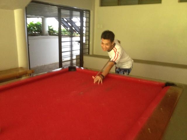 Billiards table at the recreation room of Rancho Cancio