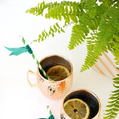 Décor de Table DIY Vert & Métallique