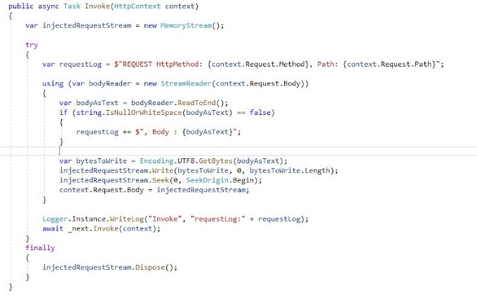 Capturing full request in DotNet Core API