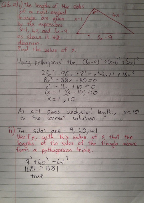 Leaving Cert Project Maths Paper 1 Solutions 7