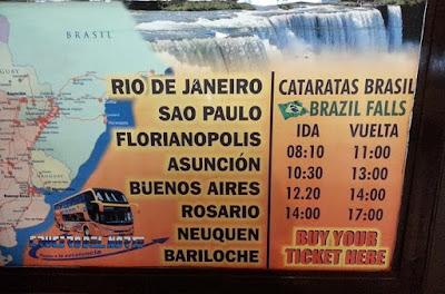 Horarios buses cataratas Iguazú parte Brasileña - Crucero del Norte
