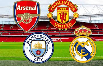 مواعيد مبارايات القمة ليوم السبت , ريال مدريد ضد ليفانتي , مانشيستر سيتي ضد شيفيلد يونايتد ,مانشيستر يونايتد ضد آرسنال