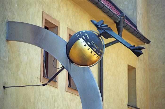 Prague, château, Pražský hrad, horloge, hodiny, © L. Gigout, 1990
